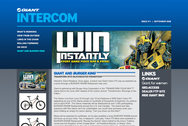 Giant . Intercom Website