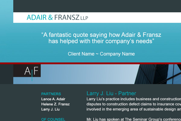 Adair & Fransz, LLP . Website